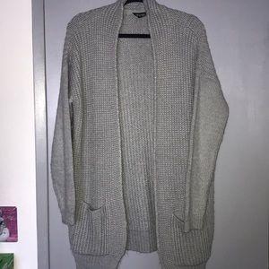 Topshop long grey sweater, size US 12, UK 16